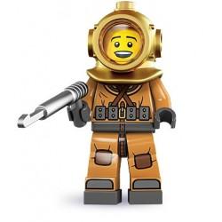 LEGO Minifigures Serie 8 - le scaphandrier - 8833 (La Petite Brique, le spécialiste de la minfig)