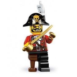 LEGO Minifigures Serie 8 - le capitaine pirate - 8833 (La Petite Brique, le spécialiste de la minfig)