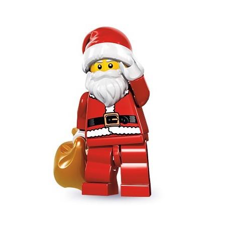 Pere Noel Lego LEGO Minifig Series 8 Santa Claus   8833 (La Petite Brique)