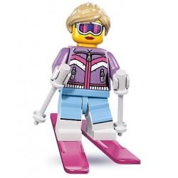 LEGO Minifigures Serie 8 - la skieuse - 8833 (La Petite Brique, le spécialiste de la minfig)