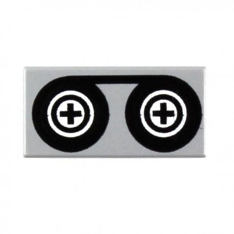 LEGO Minifig Accessoires Bande magnétique - Tile 1 x 2 (La Petite Brique)
