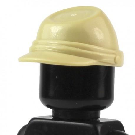 LEGO Minifig Accessoires Casquette Militaire - Kepi (Beige) (La Petite Brique)