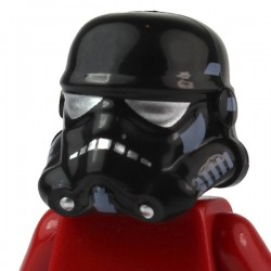 Black Minifig, Headgear Helmet SW Stormtrooper, Shadow Trooper Pattern