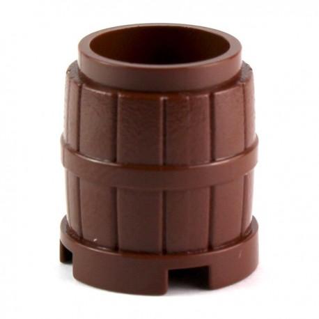 LEGO Minifig Accessoires Tonneau 2 x 2 x 2 (Marron rougeâtre) (La Petite Brique)