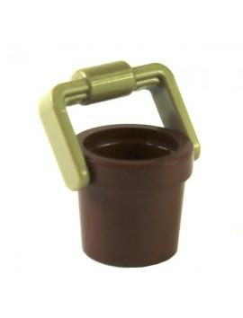 Reddish Brown Bucket 1 x 1 x 1