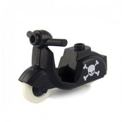Black Scooter Skull'n'Bones print