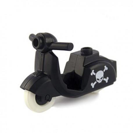Lego Custom Minifig BRICKFORGE Scooter (noir) Tête de mort (La Petite Brique)