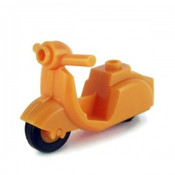 Lego Custom Minifig BRICKFORGE Vintage Scooter (orange) (La Petite Brique)