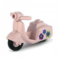 Pink Scooter Flowers print
