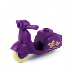 Purple Scooter Butterfly print