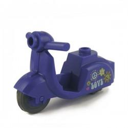 Lego Custom Minifig BRICKFORGE Vintage Scooter (violet) Hippie (La Petite Brique)