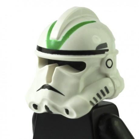 LEGO Minifig Accessoires Casque Clone Trooper Ep.3 avec bandes vertes (Star Wars) (La Petite Brique)