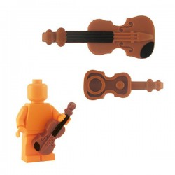 Violin - Dark Orange (black chin/neck print)