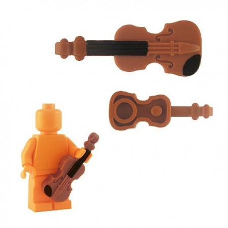Lego Minifig Custom Accessoires BRICKFORGE Violon (orange foncé) (La Petite Brique)