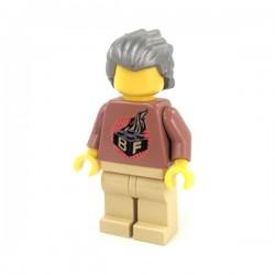 Lego Minifig Custom Accessoires BRICKFORGE Cheveux Hero (Silver) (La Petite Brique)