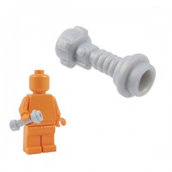 Lego Minifig Custom Armes Star Wars BRICKFORGE Manche de Sabre Laser (Space Knight - True Silver) (La Petite Brique)