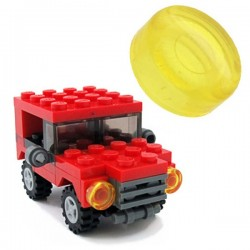 Lego Minifig Custom BRICKFORGE Optique de phare (jaune transparent) (La Petite Brique)