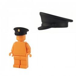 Lego Minifig Custom Accessoires BRICKFORGE Casquette Officier (insigne doré - noir) (La Petite Brique)