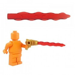 Lego Minifig Custom Armes Star Wars BRICKFORGE Pulse Ray (rouge transparent) (La Petite Brique)