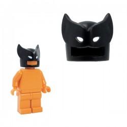 Lego Minifig Custom Accessoires BRICKFORGE Savage Mask (noir - yeux blancs) (La Petite Brique)