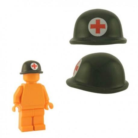 Lego Minifig Custom Accessoires BRICKFORGE Casque Soldat (vert militaire - Infirmerie) (La Petite Brique)