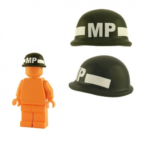 Lego Minifig Custom Accessoires BRICKFORGE Casque Soldat (vert militaire - MP) (La Petite Brique)