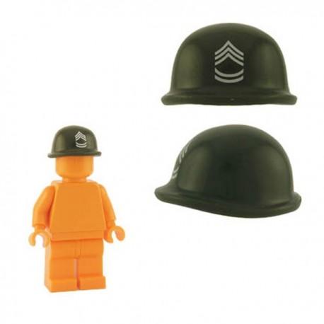 Lego Minifig Custom Accessoires BRICKFORGE Casque Soldat (vert militaire - Sergent) (La Petite Brique)