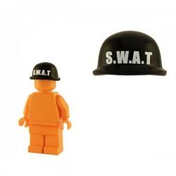Lego Minifig Custom Accessoires BRICKFORGE Casque Soldat (noir - SWAT) (La Petite Brique)
