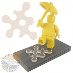 Lego Minifig Custom Accessoires BRICKFORGE Eclaboussure, Liquide (transparent) (La Petite Brique)