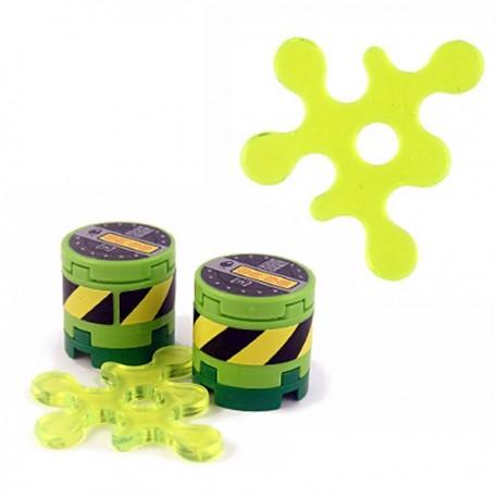 Lego Minifig Custom Accessoires BRICKFORGE Eclaboussure, Liquide (vert néon transparent) (La Petite Brique)