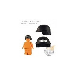 Tactical Helmet - Black (white POLICE print)