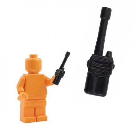 Lego Minifig Custom Accessoires BRICKFORGE Talkie Walkie (noir) (La Petite Brique)