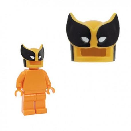 Lego Minifig Custom Accessoires BRICKFORGE Savage Mask (orange clair - noir & blanc) (La Petite Brique)