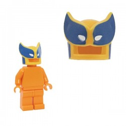 Lego Minifig Custom Accessoires BRICKFORGE Savage Mask (orange clair - bleu & blanc) (La Petite Brique)