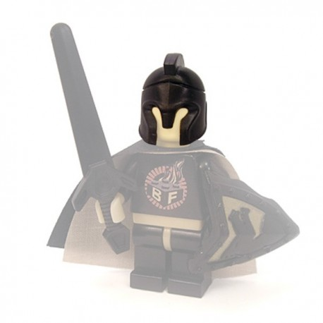 Lego Minifig Custom Accessoires BRICKFORGE Casque Corinthien (noir) (La Petite Brique)