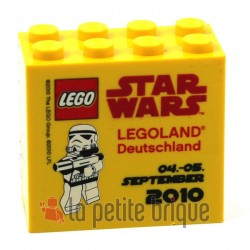 Brick 2 x 4 x 3 with Legoland Deutschland Star Wars 04. - 05. September 2010 Pattern