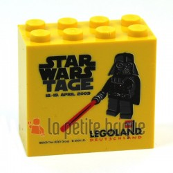Brick 2 x 4 x 3 with Legoland Deutschland Star Wars Tage 2009 Pattern