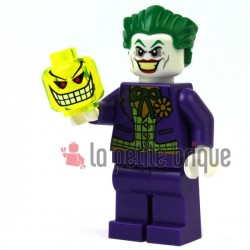Trans-Neon Green Minifig, Head with Red Eyes, Eyebrows, White Teeth and Grin Pattern (Joker's Bomb)