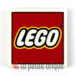 """Lego Accessoires logo """"Lego"""" - Tile 2 x 2 (La Petite Brique)"""