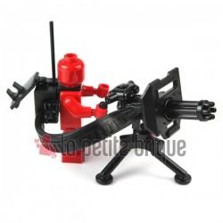 Lego Custom Minifig SI-DAN Minigun + Trépied & accessoires (mitrailleuse) (La Petite Brique)