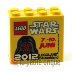 Brick 2 x 4 x 3 with Legoland Deutschland Star Wars 07. - 10. Juni 2012 Pattern