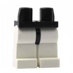 Lego Minifig Accessoires Jambes blanches, ceinture noire (La Petite Brique)
