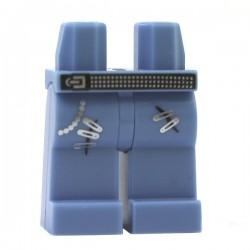 Jambes - bleu moyen - Jeans avec ceinture et épingles à nourrices