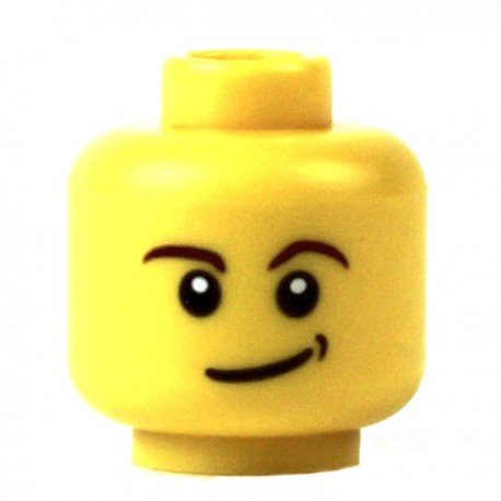 Yellow Minifig, Head Male Crooked Smile