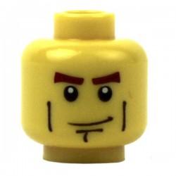 Lego Minifig Accessoires Tête masculine jaune, 01 (La Petite Brique)