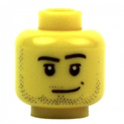 Yellow Minifig, Head Male 02