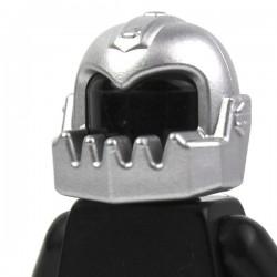 Lego Minifig Accessoires Casque avec machoire surdimensionnée (metallic silver) (La Petite Brique)