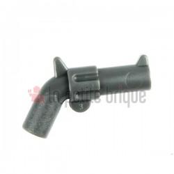 Dark Bluish Gray Minifig, Weapon Gun, Pistol Revolver