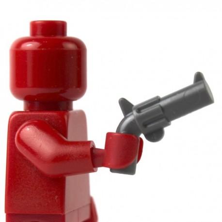 LEGO Minifig Accessoires - Revolver (Dark Bluish Gray) (La Petite Brique)