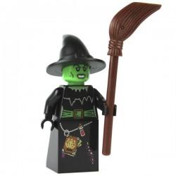 Lego Minifig La sorcière avec son balai (La Petite Brique)